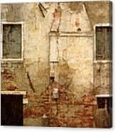 Venice Italy Crumbling Stucco Wall Canvas Print