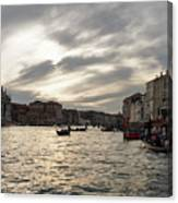 Venice Italy - Pearly Skies On The Grand Canal Canvas Print