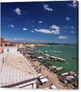 Venice Lagoon Panorama - Bird View Canvas Print