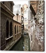 Venice One Way Street Canvas Print