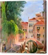Venice Ponte Moro Canvas Print
