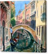 Venice Ponte Widmann Canvas Print