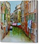 Venice Washing Day Canvas Print