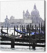 Venice Waterfront Canvas Print