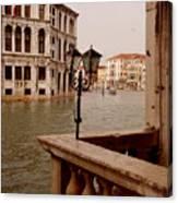 Venice Waterway Canvas Print