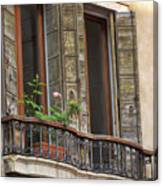 Venice Windows And Shutters Canvas Print