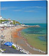 Ventnor Beach And Seafront Canvas Print