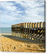 Ventnor Beach Groyne Canvas Print