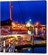 Ventura Harbor At Night Canvas Print