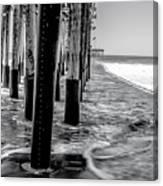 Ventura Pier Bxw Canvas Print