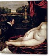 Venus And The Organist Canvas Print