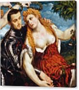 Venus, Mars & Cupid Canvas Print