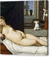 Venus Of Urbino Before 1538 Canvas Print