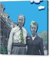 Vera And Al As The Simpsons Canvas Print
