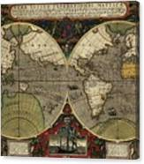 Vera Totius Expeditionis Nauticae Of 1595 Canvas Print
