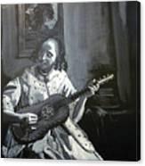 Vermeer Guitar Player Canvas Print