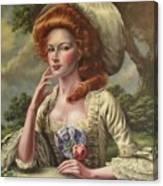 Vermilion Cheeks Canvas Print