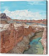 Vermilion Cliffs Standing Guard Over The Colorado Canvas Print