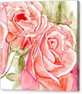 Vermilion Pink Roses Canvas Print