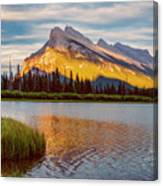 Vermillion Lakes And Mt Rundle II Canvas Print