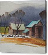 Vermont Barns  Sketch Canvas Print