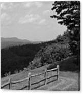 Vermont Countryside 2006 Bw Canvas Print