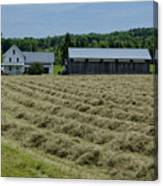 Vermont Farmhouse With Hay Canvas Print