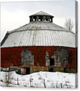Vermont Round Barn Canvas Print