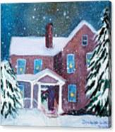 Vermont Studio Center In Winter Canvas Print