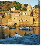 Vernazza, Italy, At Sunset Canvas Print