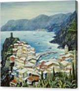 Vernazza Cinque Terre Italy Canvas Print