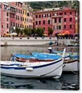 Vernazza Fishing Boats Canvas Print