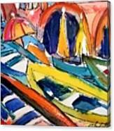 Up Close Skiffs Of Manarola  Canvas Print