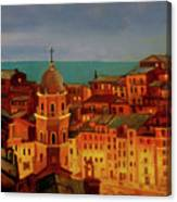 Vernazza Twilight Canvas Print