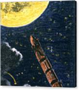 Verne: From Earth To Moon Canvas Print