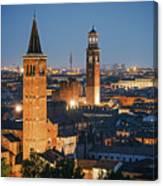 Verona At Night Canvas Print