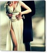 Veronica Carlson And Peter Cushing Canvas Print