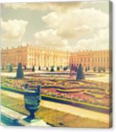 Versailles Gardens And Palace In Shabby Chic Style Canvas Print