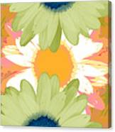 Vertical Daisy Collage II Canvas Print