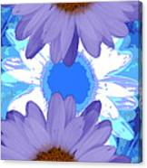 Vertical Daisy Collage Canvas Print