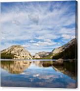Vertical Version Of Lake Tenaya Canvas Print