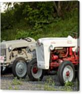 Very Old Ford Tractors Canvas Print