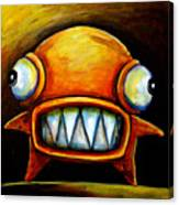 Very Scarey Glob Canvas Print