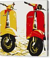 Vespa Scooter Pop Art Canvas Print