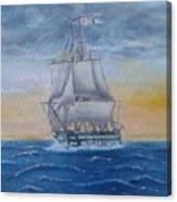 Vessel At Sea Canvas Print