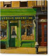 Vesuvio Bakery In New York City Canvas Print