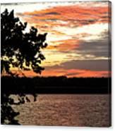 Veteran's Lake Sunset Canvas Print