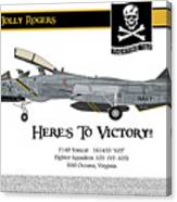 Vf-103 Jolly Rogers Canvas Print
