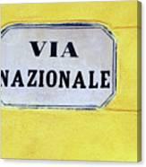 Via Nazionale Canvas Print