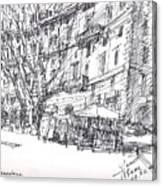 Via Nomentana Rome Canvas Print